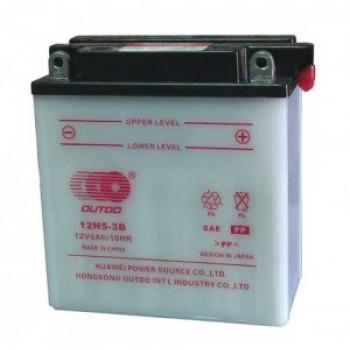 Аккумулятор MOTO 12N 5-3B OUTDO (12V, 5A)