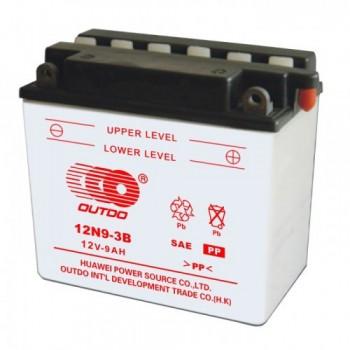 Аккумулятор MOTO 12N 9-3B OUTDO (12V, 9A)