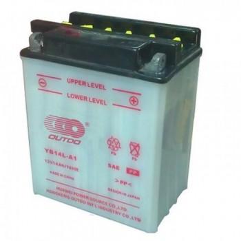 Аккумулятор MOTO YB 14L-A1 OUTDO (12V, 14A)