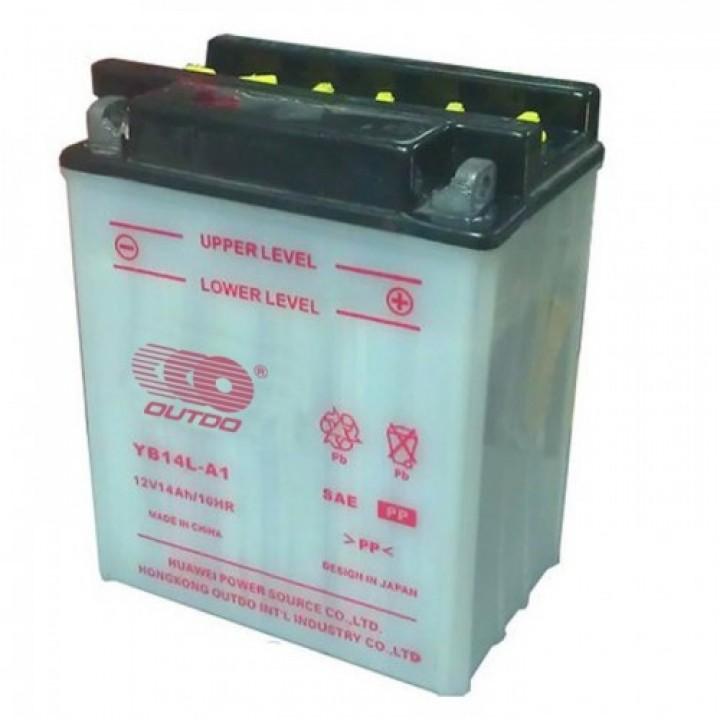 Аккумулятор MOTO YB 14L-A2 OUTDO (12V, 14A)