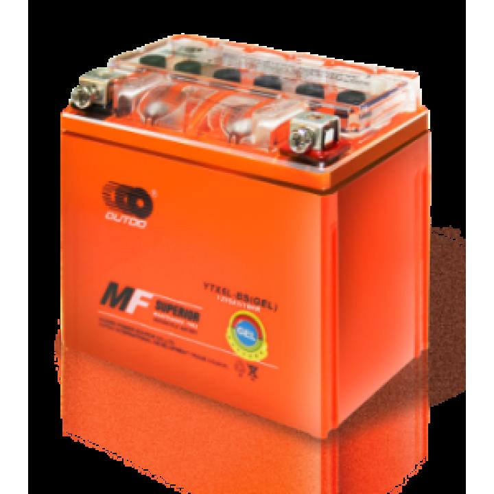 Аккумулятор MOTO YTX 5L-BS(GEL) OUTDO (12V, 5A) (оранж)