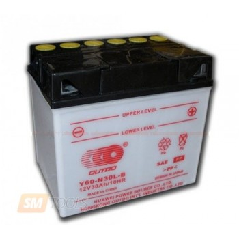 Аккумулятор MOTO YB 30L-B OUTDO (12V, 30A)