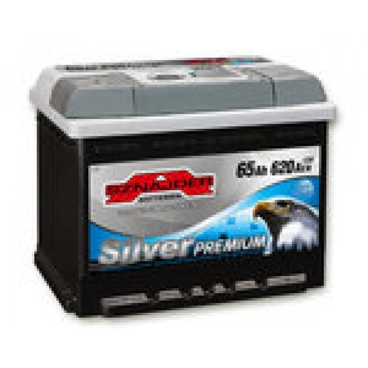 Автомобильный аккумулятор SZNAJDER Silver Premium 6СТ- 65Aз 620A L