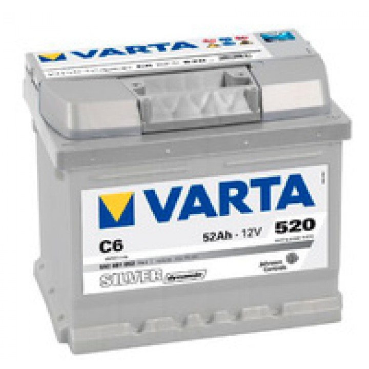 АКБ VARTA 6CT-52Aз 520А R 552 401 052 SD (C6) h=175