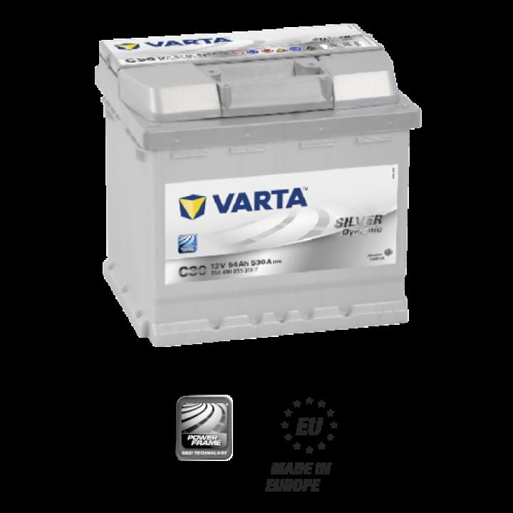 АКБ VARTA 6CT-54Aз 530А R 554 400 053 (C30)