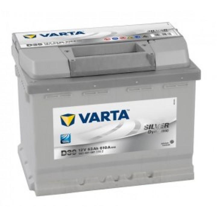 АКБ VARTA 6CT-63Aз 610A L 563 401 061 SD(D39)