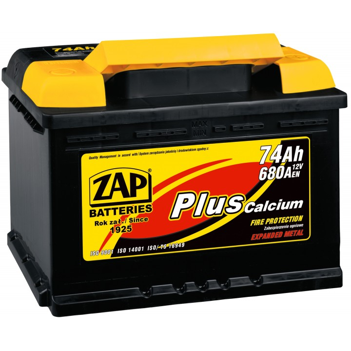 АКБ ZAP Plus 6СТ- 62Aз 580A R (562 98)