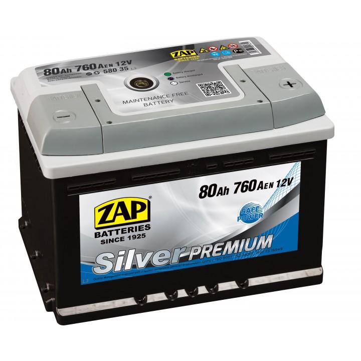 АКБ ZAP Silver Premium 6СТ- 65Aз 620A R (565 35)