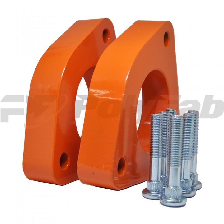 Проставки опор передних стоек KIA алюминиевые 30мм (17-15-011М30)